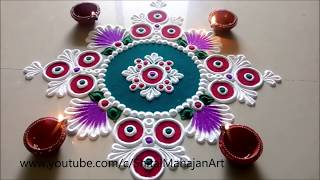 Super Creative and Easy Rangoli Designs Using Bangles| Diwali Festival Rangoli by Shital Mahajan.