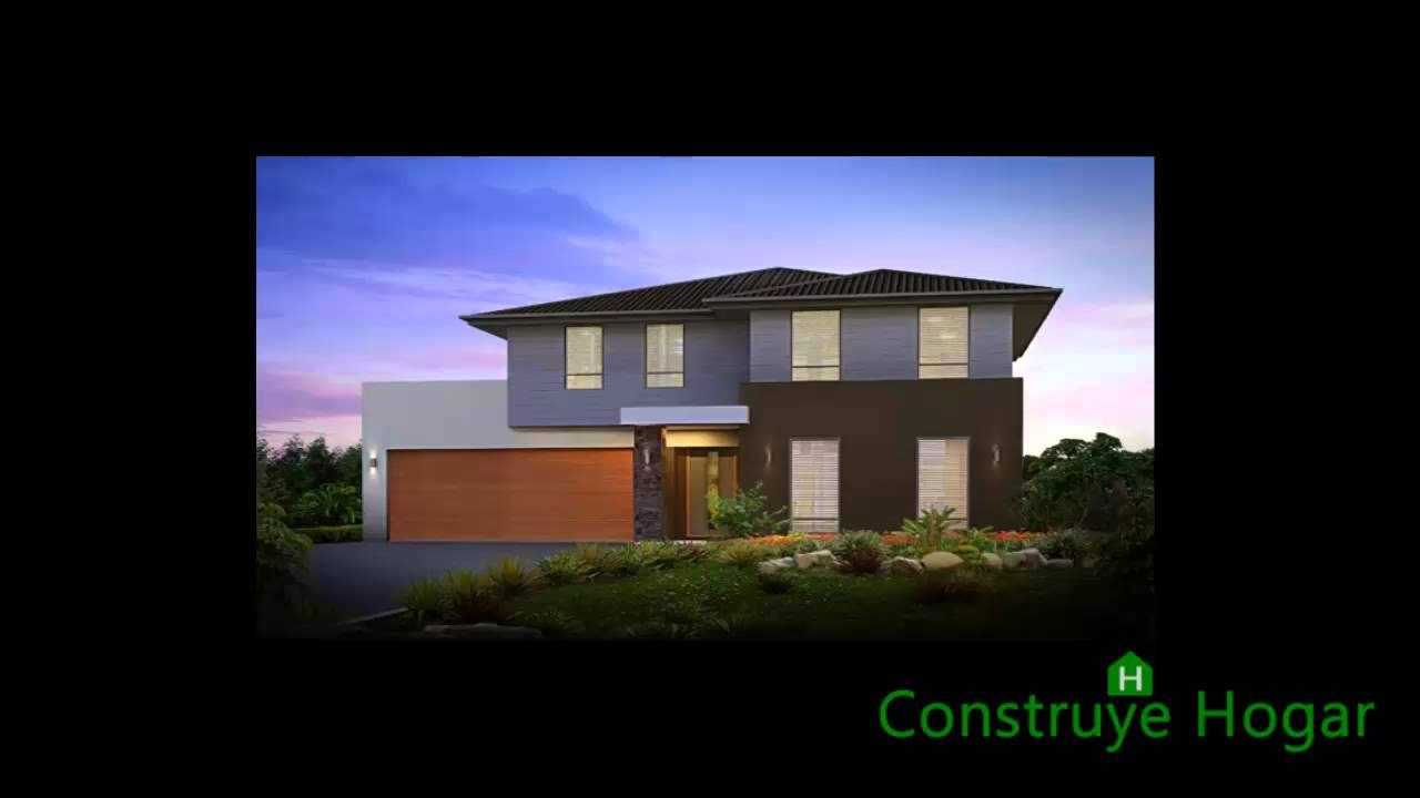 Planos de casas de dos pisos m s fachadas youtube for Modelos de fachadas para casas de 2 pisos