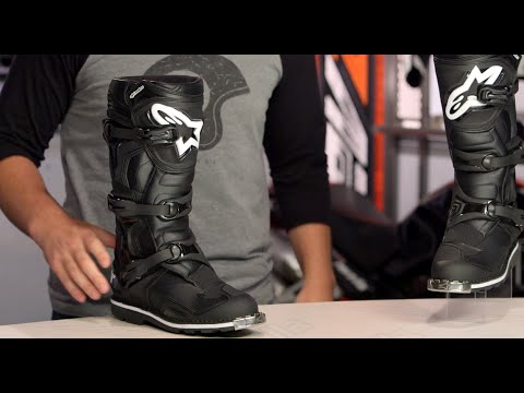 alpinestars tech 1 all terrain boots review at youtube. Black Bedroom Furniture Sets. Home Design Ideas