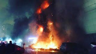 """Пожар в ТЦ """"Рио"""" на юго-западе Москвы"""