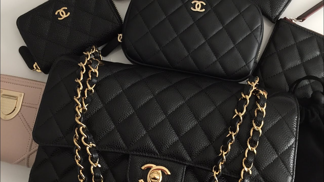 9f3dd0fd86c6 Chanel M/L Classic Flap Review and What's In My Bag!!! Lux Purse Love