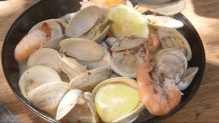 Drunken Clams And Shrimp Recipe By The Bbq Pit Boys