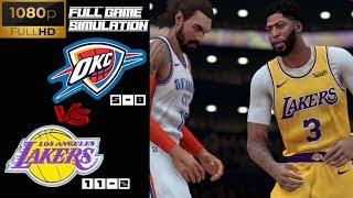 Oklahoma Thunder vs LA Lakers - Full Game Highlights! Nov 19, 2019 NBA Season | NBA 2K20