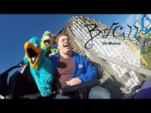 Puppets at a Theme Park! Cast of Bird Call the Musical enjoy a day at Fun Spot