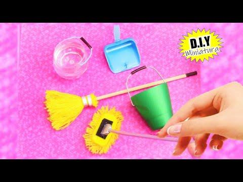 4 IDEAS fáciles para hacer artículos de limpieza REALISTAS en miniatura reciclando basura!!