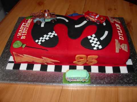 How To Make A Lightning Mcqueen Cake Without Fondant