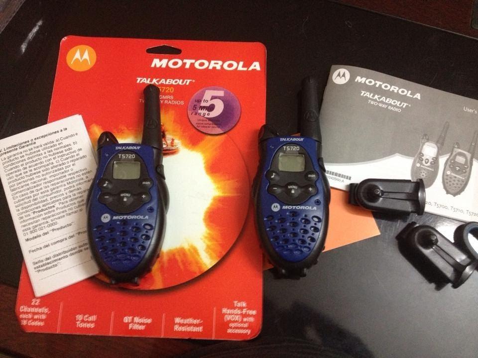 Motorola talkabout t5720 manual español.