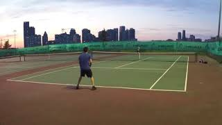 5/15/18 Tennis - Set highlights and a sunset