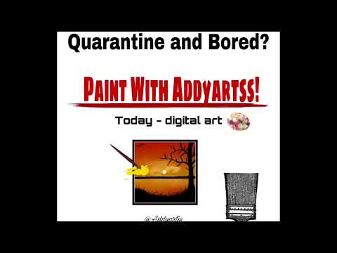 How To: Digital Art Sunset Painting