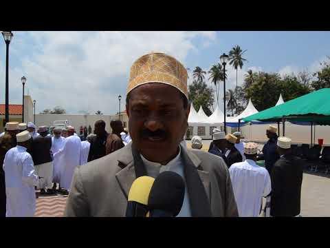 Waziri Aboud Akizungumzia Uzinduzi wa Masjid Jaamiu Zinjibar Mazizini Zanzibar.