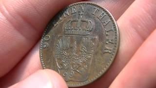 4 Pfennige 1860 A Koenigreich Sachsen 90 einen Thaler