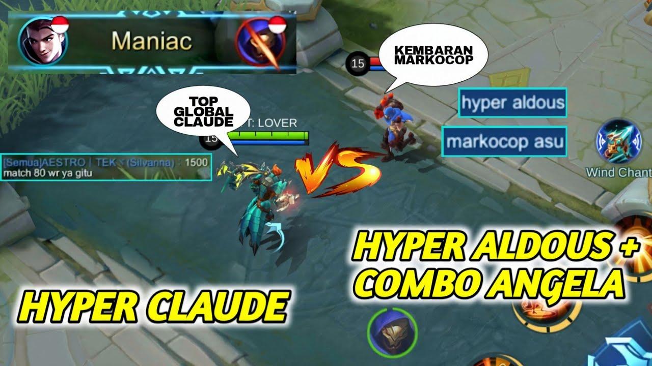 CLAUDE VS ALDOUS ? TOP CLAUDE INDONESIA GAMEPLAY - LOVER   MOBILE LEGENDS