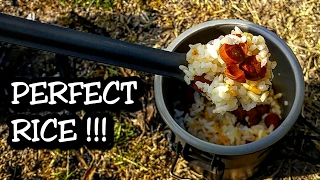 How to Cook Perfect rice OUTDOORS!!! - for Camping, Backpacking, Hiking...