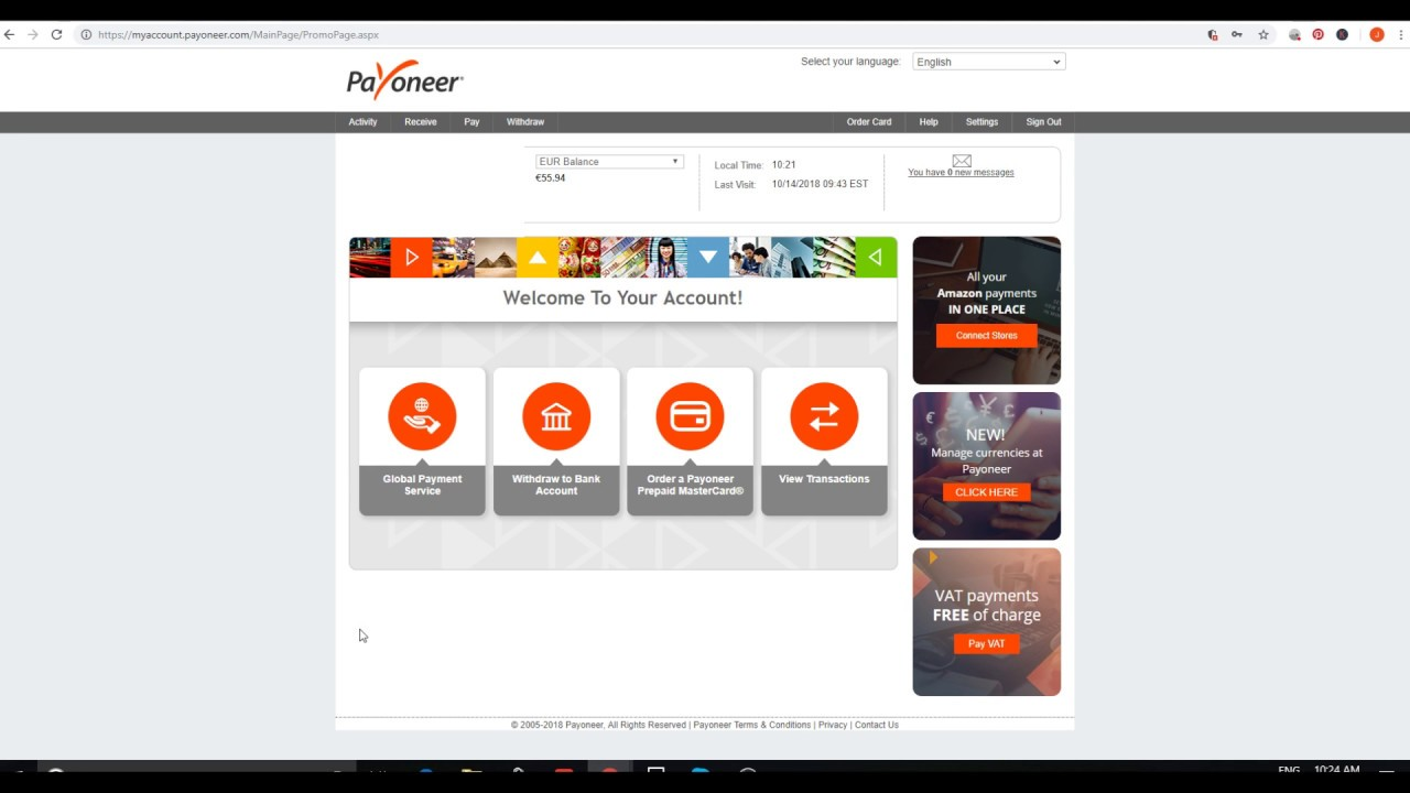How To Transfer Your Eur Balance To Usd On Payoneer Manage