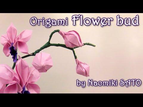 Papercraft Origami Flower bud by Naomiki SATO - Yakomoga Origami tutorial