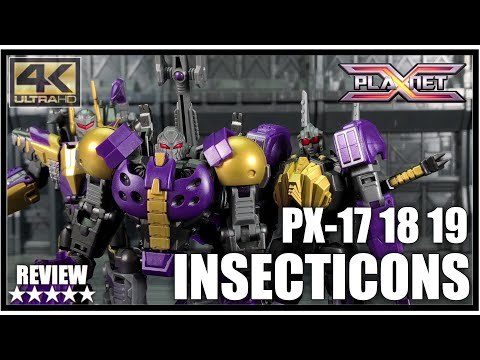 Planet X PX-17 Morpheus PX-18 Phobetor PX-19 Phantasus Transformers Fall Of Cybertron Insecticons