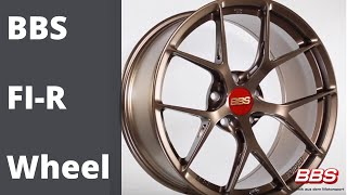 Get a detailed 360 degree view of the NEW BRONZE finish BBS FI-R wheel.  This stylish one-piece forged wheel is a performance wheel built for exquisite cars like Lamborghini, Audi, Porsche,  Mclaren, Ford GT, and BMW.   The back-milling and cut outs in th