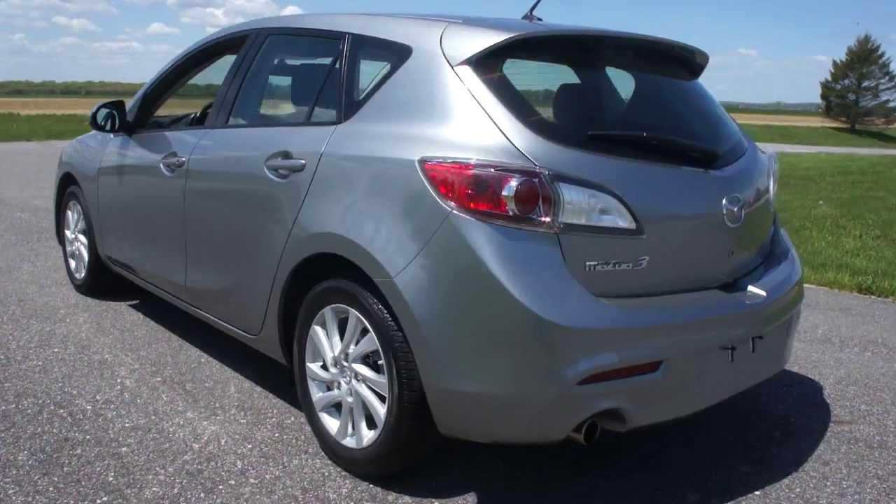 2012 mazda mazda3 hatchback for sale sky active automatic low miles salvage title sandy storm. Black Bedroom Furniture Sets. Home Design Ideas