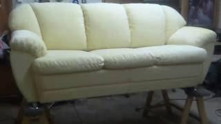 Сделали диван и напоследок его обзор.