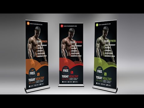 Creative roll up banner design | Photoshop Tutorial