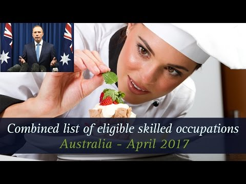 Australia April 2017 - Combined list of eligible skilled occupations