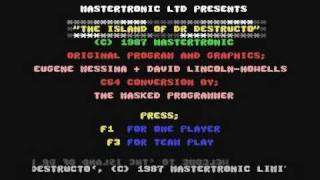 Commodore 64: The Island of Dr. Destructo game ending by Mastertronic