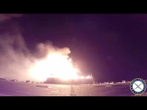 USS Porter Launches Strikes Into Syria