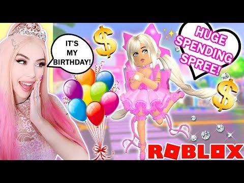 It's My Birthday So I Bought EVERYTHING POSSIBLE In Royale High... HUGE Diamond Spending Spree