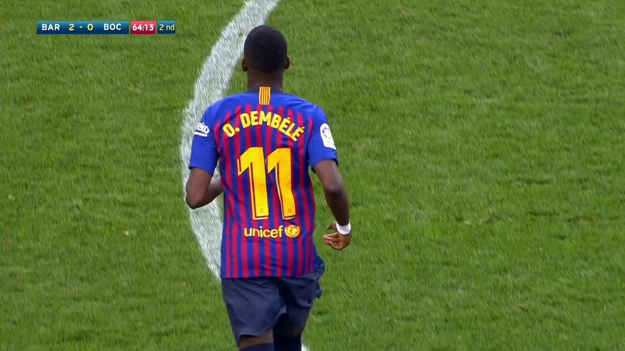 ousmane-dembl-vs-boca-juniors-every-touch-15-08-2018