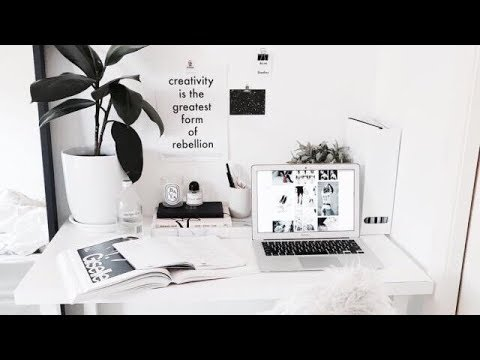 Aesthetic Room Tour 2018 White Black Theme