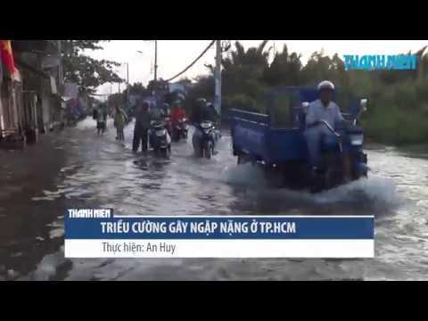 Triều cường gây ngập nặng, người Sài Gòn ướt sũng trên đường về nhà