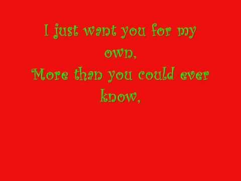 All I want for Christmas is you by Samantha Mumba with lyrics - YouTube