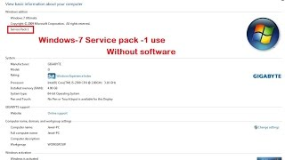 How to Install Service Pack 1 Windows 7 easy way 100 %  working [Manas Tech]