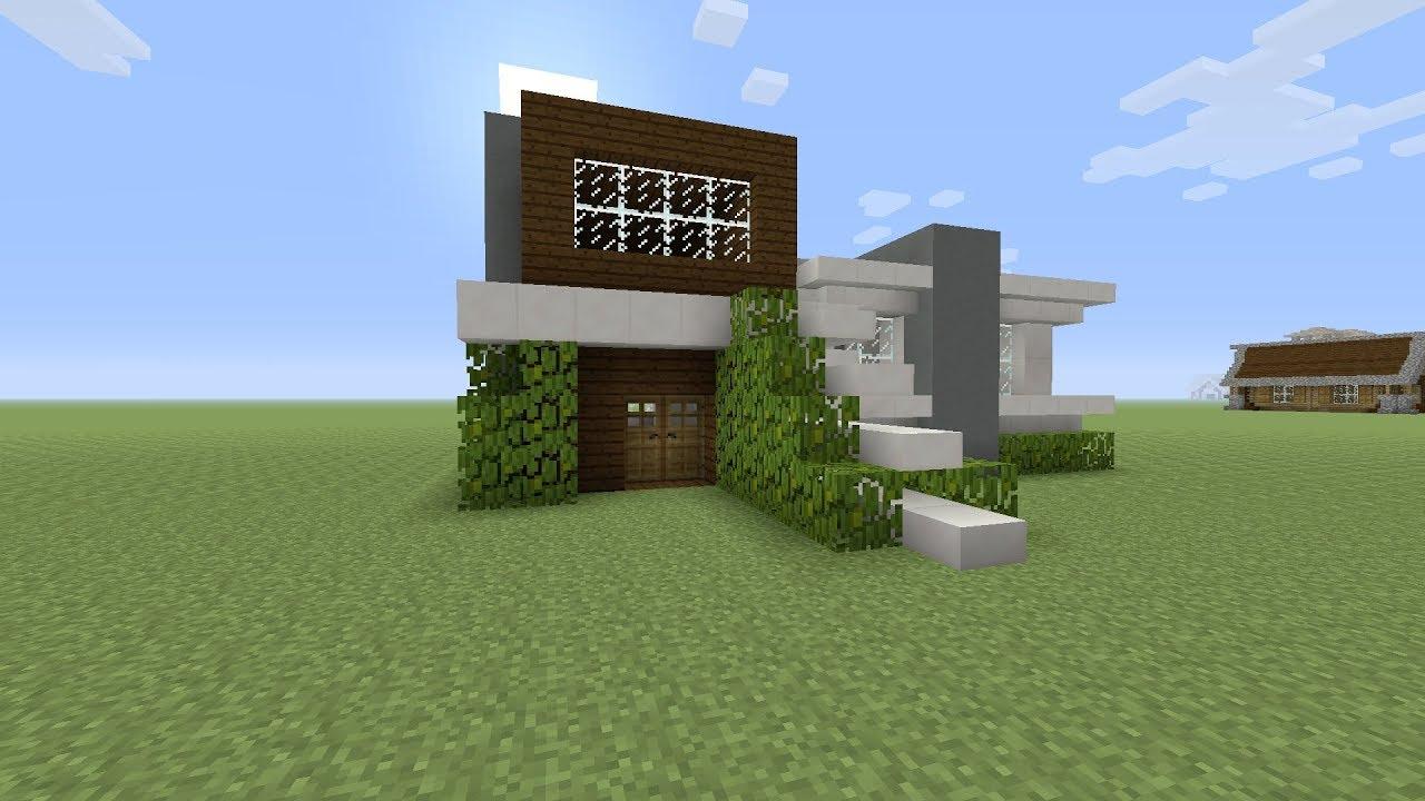 Minecraft een middel groot moderne huis bouwen minetopia youtube