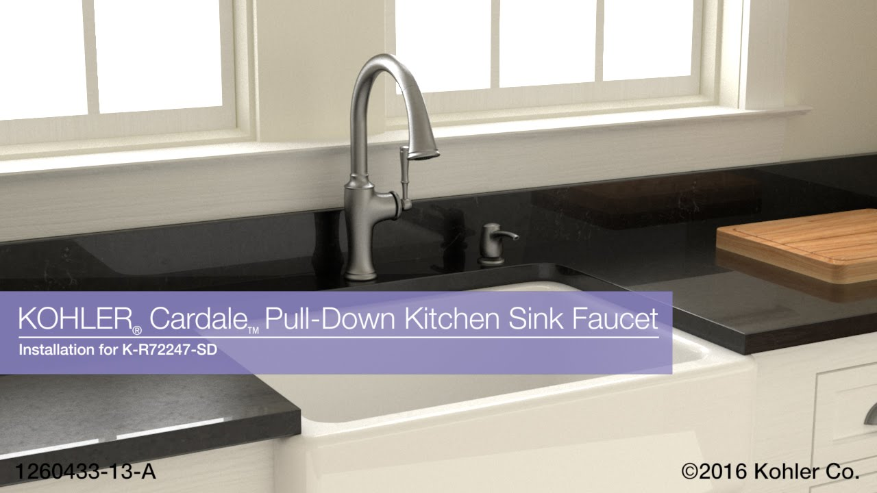 Installation - Cardale Pull-Down Kitchen Sink Faucet - YouTube