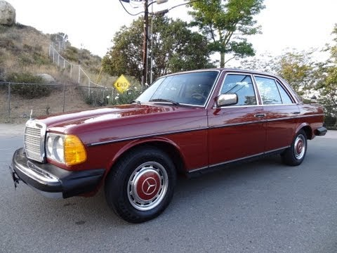 Mercedes Benz 240D W123 Diesel Sedan Non Turbo Bio 300D Youngtimer Video Review For Sale