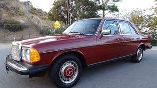 mercedes benz 240d w123 diesel sedan non turbo bio 300d youngtimer video review for sale