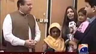 Nawaz Sharif and Hadiqa Kiyani 18th August 2011 Capital Talk - Part 1