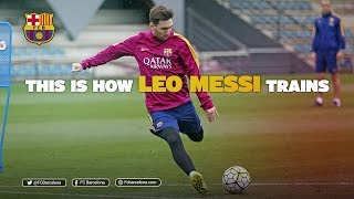 FC Barcelona – This is how Leo Messi trains / Así entrena Messi
