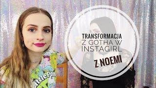 TRANSFORMACJA z gotha w instagirl Z NOEMI