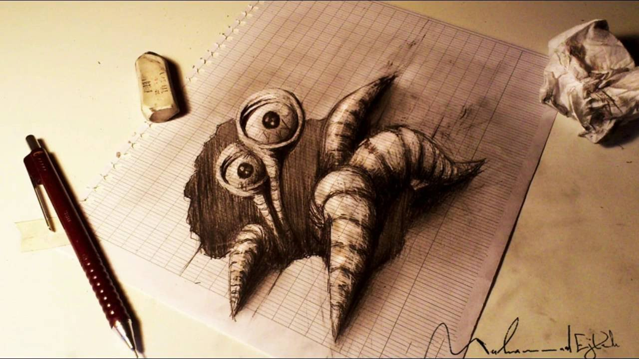 32 Of The Best 3D Pencil Drawings - YouTube