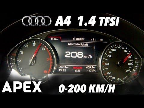 2017 Audi A4 1.4 TFSI Acceleration Sound 0 100, 0 200 km h APEX