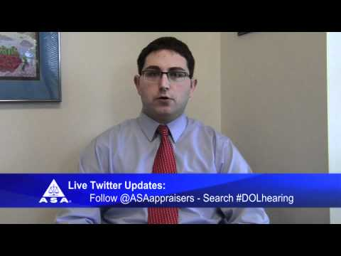Follow the Department of Labor Hearing Live with ASA