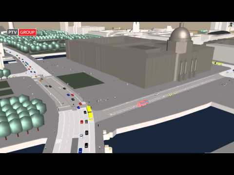 PTV Vissim: Berlin City Palace Vissim Traffic Simulation