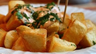 Patatas Bravas -- Crispy Potatoes with Spicy Garlic & Chili Aioli
