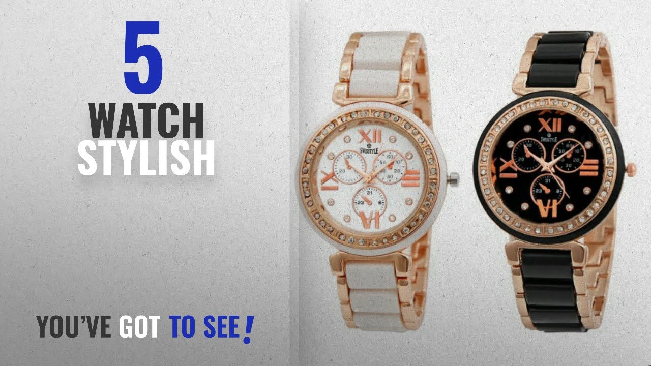 8e3a02701d3ea Top 10 Watch Stylish  2018   Swisstyle Analogue White Dial   Black Dial Womens  Watches