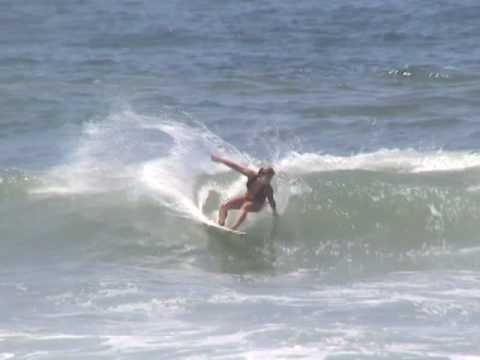 Western Australia's Claire Bevilacqua surfing in Southern California