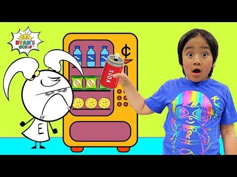Ryan Pretend Play Vending Machine Snacks with EK Doodles!