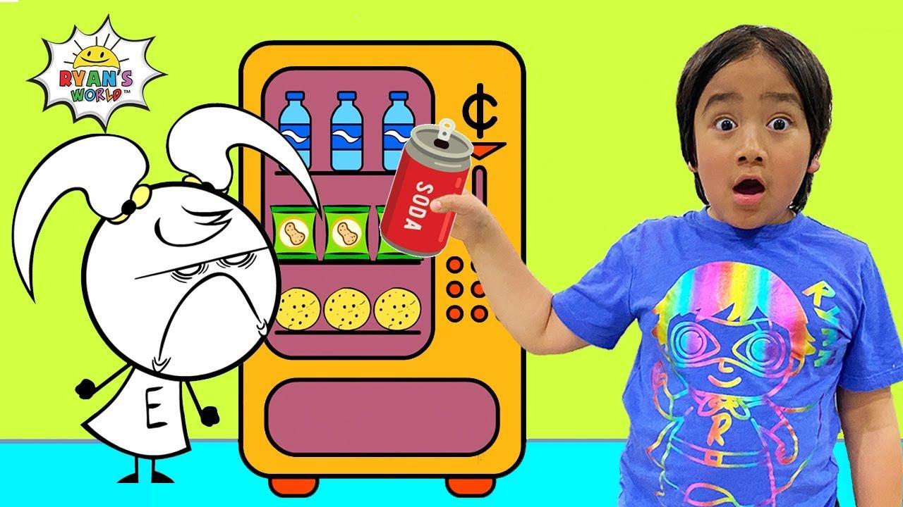 Download Ryan Pretend Play Vending Machine Snacks with EK Doodles!