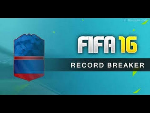 91 RECORD BREAKER CARD IN A PACK + HIGH RATED INFORM! FIFA 16